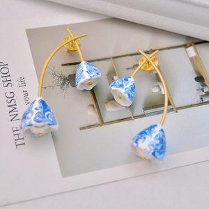 Tory Burch Simple Flower Shape Pearl Earrings